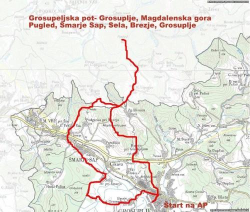 Vabilo na pohod po Grosupeljski poti in čistilna akcija
