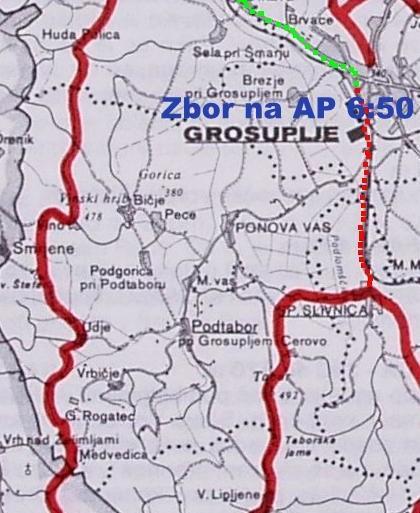 Vabilo na pohod po Grosupeljski poti, v nedeljo 19. maja 2013