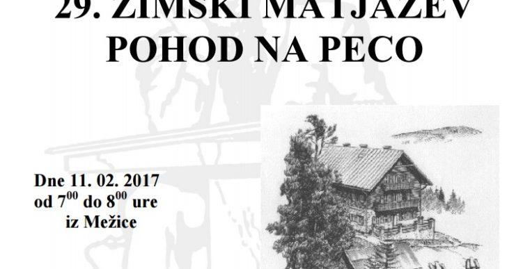 PD Grosuplje  ima v planu tudi  zimski Matjažev pohod na Peco – v soboto 11. 2. 2017
